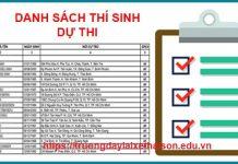 Danh sách thi sinh dự thi bằng lái hạng A1 tại Trường Dạy Lái Xe Thái Sơn