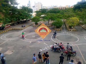 Bài thi thực hành bằng lái xe máy tại Thái Sơn