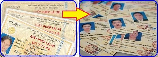 Quy trình đổi giấy phép lái xe từ cũ sang mới