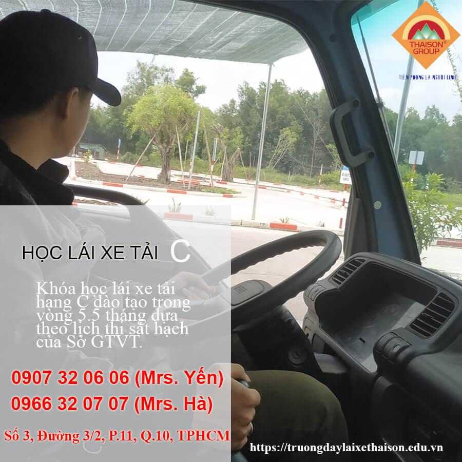 Khóa Học Lái Xe Tải Hạng C Tại Thái Sơn BQP